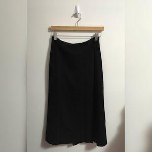 Lauren Ralph Lauren Black Wool Skirt
